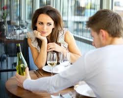 woman gazing a man
